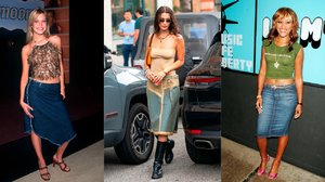 Are You Ready for the Return of Long Denim Skirts?