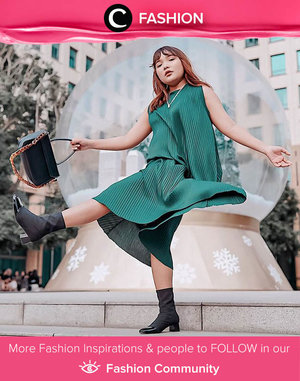 Just like Clozette Ambassador @lidyaagustin01, we're also into pleats, especially in green! Simak Fashion Update ala clozetters lainnya hari ini di Fashion Community. Yuk, share outfit favorit kamu bersama Clozette.