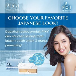 Butuh inspirasi gaya makeup? Cek PIXY Tokyo Look Book dan vote gaya makeup favoritmu serta berikan alasannya, untuk berkesempatan memenangkan @pixycosmetics products dan voucher belanja!  Pilih look favoritmu sekarang di sini http://bit.ly/pixytokyolookbook  #ClozetteID #PIXY #PIXYCoverSmooth