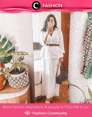 White and white for a formal occasion, shared by Clozetter @2thousandthings. Simak Fashion Update ala clozetters lainnya hari ini di Fashion Community. Yuk, share outfit favorit kamu bersama Clozette.