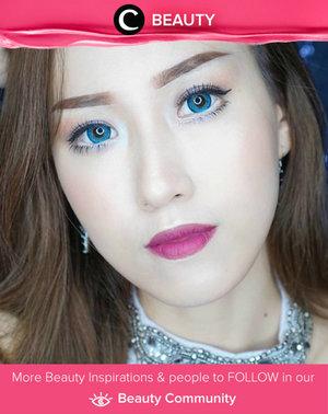 Completed her makeup look with softlens Ageha Lunatia Blue. Simak Beauty Updates ala clozetters lainnya hari ini di Beauty Community. Image shared by Clozetter: @jessica_ie. Yuk, share beauty product andalan kamu.