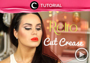 Create your own cut crease vintage look and see the tutorial here http://bit.ly/2jSqSnb. Video ini di-share kembali oleh Clozetter: kamiliasari. Cek Tutorial Updates lainnya pada Tutorial Section.
