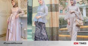 10 Gaya Kondangan Hijab ala Melody Prima dari Setelan hingga Kebaya