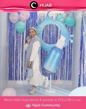 Clozette Ambassador @ladyulia wrapped in baby blue and white for a skincare event. Simak inspirasi gaya Hijab dari para Clozetters hari ini di Hijab Community. Yuk, share juga gaya hijab andalan kamu.