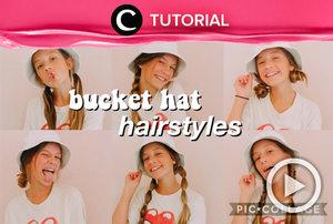 Meskipun menggunakan bucket hat, kamu bisa tetap tampil maksimal dengan hair style menggemaskan, lho: https://bit.ly/2RvV4Yi. Video ini di-share kembali oleh Clozetter @kamiliasari. Lihat juga tutorial lainnya di Tutorial Section.