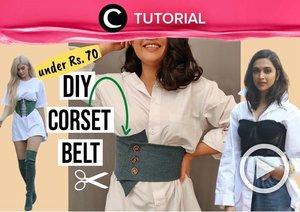 Affordable and easy, try this DIY corset belt at home: https://bit.ly/3irUYw9. Video ini di-share kembali oleh Clozetter @dintjess. Lihat juga tutorial lainnya di Tutorial Section.