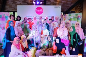 It's a wrap! Thank you #SunsilkHijabSister🧕🏻🧕🏻 let's #UncoverPossibilities!! #ClozetteID @Clozetteid @sunsilkid