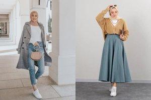7 Ide Style Hijab dengan Sepatu Kets Putih yang Bikin Penampilan Terlihat Muda