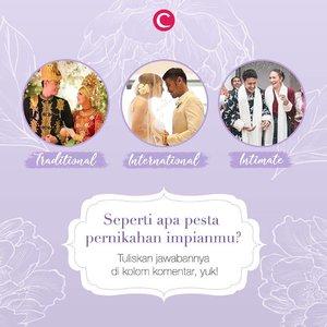 Banyaknya undangan pernikahan bikin kita kadang berpikir, bagaimana ya pernikahan kita nanti? Kalau kamu, seperti apa impian tentang pesta pernikahanmu kelak? Tulis di kolom komentar, ya, Clozetters! Siapa tahu kelak bisa terwujud. #ClozetteID