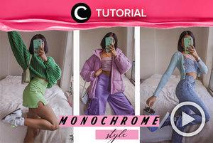 Monochrome but make it playful: http://bit.ly/2Xoh4Ur. Video ini di-share kembali oleh Clozetter @salsaibowo. Intip juga tutorial lainnya di Tutorial Section.