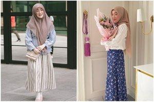 Inspirasi 5 Outfit Hijab Rok Larissa Chou Yang Sopan Dan Feminin