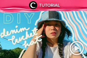Patchwork fashion item sedang jadi tren di awal 2021 ini. Salah satunya bucket hat seperti yang ada di dalam video DIY berikut: http://bit.ly/3sfKbGO. Video ini di-share kembali oleh Clozetter @kyriaa. Intip juga tutorial lainnya di Tutorial Section.