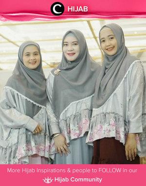 Clozetter @Nianastiti & friends looked elegant with matching outfits. Simak inspirasi gaya Hijab dari para Clozetters hari ini di Hijab Community. Yuk, share juga gaya hijab andalan kamu.