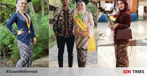 10 Ide Kebaya Modern dengan Hijab, Cocok Buat Wisuda Millennials Nih!