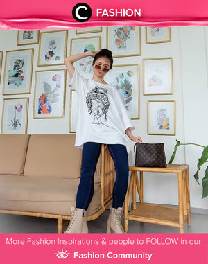 Clozette Ambassador @silviamuryadi shared her casual day outfit. Simak Fashion Update ala clozetters lainnya hari ini di Fashion Community. Yuk, share outfit favorit kamu bersama Clozette.