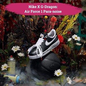 Fans berat G-Dragon, mana suaranya?! Baru saja menyelesaikan wajib militernya, leader boyband Big Bang ini langsung berkolaborasi dengan salah satu brand sneakers terkenal di dunia, Nike. . Nike and G-Dragon present: Air Force 1 Para-noise ini akan rilis secara resmi di website Nike pada 23 November 2019 mendatang. Siap-siap rebutan ya, Clozetters! . 📷 @nike @xxxibgdrgn  #ClozetteID #NikeXGDragon #GDragon #Nike
