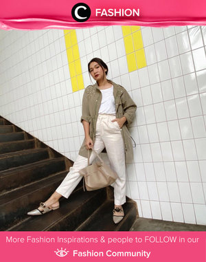 A simple way to maximize your casual look: wear fancy flat shoes. Image shared by Clozette Ambassador @cellinikamil. Simak Fashion Update ala clozetters lainnya hari ini di Fashion Community. Yuk, share outfit favorit kamu bersama Clozette.