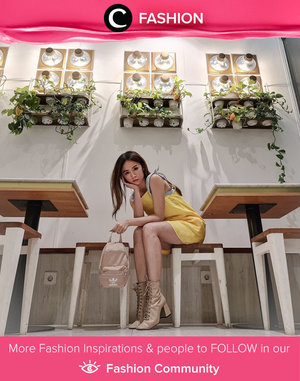 In the mood for a glam evening today? Steal Clozette Ambassador @silviamuryadi's style with mini dress and statement boots! Simak Fashion Update ala clozetters lainnya hari ini di Fashion Community. Yuk, share outfit favorit kamu bersama Clozette.