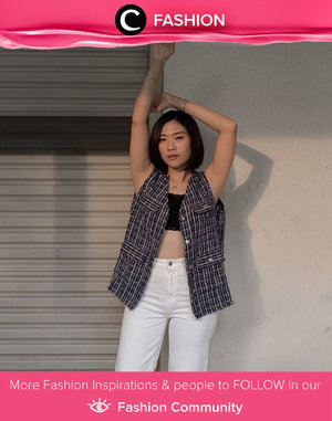 This tweed vest is a fail-safe option when you want to show some skin on a sunny day! Inspired by Clozette Ambassador @janejaneveroo. Simak Fashion Update ala clozetters lainnya hari ini di Fashion Community. Yuk, share outfit favorit kamu bersama Clozette.