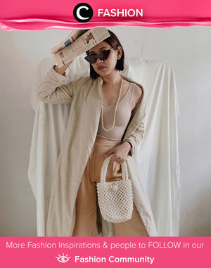 Clozette Ambassador @cellinikamil in her casual neutral outfit. Looks so comfy! Simak Fashion Update ala clozetters lainnya hari ini di Fashion Community. Yuk, share outfit favorit kamu bersama Clozette.