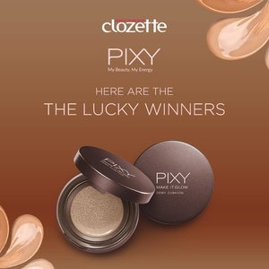Siapa yang sudah nunggu-nunggu pengumuman pemenang giveaway Pixy? The wait is finally over!Pemenang Utama Hadiah Gopay 1 Juta rupiah + Product Pixy Make It Glow:@mimimiah @murnidamiana @laifitriaPemenang Hadiah Gopay 250ribu + Product Pixy Make It Glow:@dianarianti21 @itsjusterr @nukeayuf @sukma_rahmawati @lianayustina @amelitayonathan @cindyvitz @mymemine_iNggak hanya mereka, ada juga pemenang hadiah produk Pixy Make It Glow yang bisa kamu liat di instastory kita, lho, Clozetters!Mohon mengirimkan Nama lengkap, alamat lengkap, nomor handphone untuk pengiriman hadiah paling lambat 30 Juli 2019, ya, kami tunggu! #ClozetteID#IamAglowgetter 