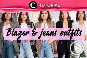 Blazer & jeans selalu membuat penampilanmu terlihat chic secara instan! Intip tutorialnya di: http://bit.ly/3c0KL3W. Video ini di-share kembali oleh Clozetter @shafirasyahnaz. Lihat juga tutorial lainnya di Tutorial Section.