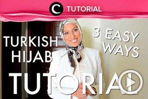Hijab Turki selalu terlihat anggun jika kamu gunakan secara maksimal. Intip tutorialnya di: http://bit.ly/2NEF4yZ. Video ini di-share kembali oleh Clozetter @kyriaa. Lihat juga tutorial updates lainnya di Tutorial Section.