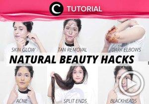 12 natural beauty hacks you should try: https://bit.ly/36NGDD7. Video ini di-share kembali oleh Clozetter @zahirazahra. Lihat juga tutorial lainnya di Tutorial Section.