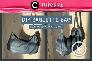 Calling all bag lovers! You can now make your own denim baguette bag at home with this video: https://bit.ly/3fnfmfO. Video ini di-share kembali oleh Clozetter @ranialda. Lihat juga tutorial lainnya di Tutorial Section.