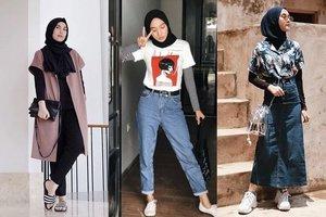 7 Kombinasi Baju Lengan Pendek dengan Hijab yang Stylish Tapi Sopan