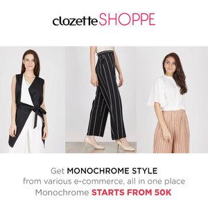 Tampil gaya dengan balutan busana monokrom tidak akan membuatmu salah kostum, Clozetters! Belanja busana monokrom favoritmu dari berbagai e-commerce site via #ClozetteSHOPPE MULAI 50k! http://www.clozetteshoppe.co.id/styles/monochrome-style