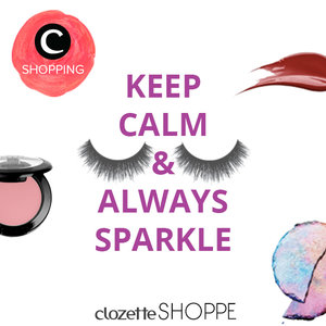Midweek rush? Keep calm and always sparkle with your fave make up from #ClozetteSHOPPE http://bit.ly/shpmakeupcrew