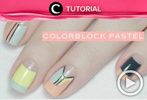 Suka nuansa pastel? Yuk, simak tutorial berikut untuk membuat colorblock pastel di kukumu http://bit.ly/2vA32PM. Video ini di-share kembali oleh Clozetter: @zahirazahra. Cek Tutorial Updates lainnya pada Tutorial Section.