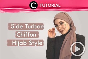 Tampil lebih stylish dengan side turban, yuk. Intip tutorialnya di: http://bit.ly/30ODVHW. Video ini di-share kembali oleh Clozetter @zahirazahra. Lihat juga tutorial lainnya di Tutorial Section.