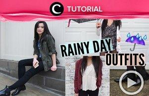 Wah, sudah masuk musim hujan. Initip yuk Rainy day outfit ideas di : http://bit.ly/2Q1GzFG Video ini di-share kembali oleh Clozetter: @Kamiliasari. Cek Tutorial Updates lainnya pada Tutorial Section.