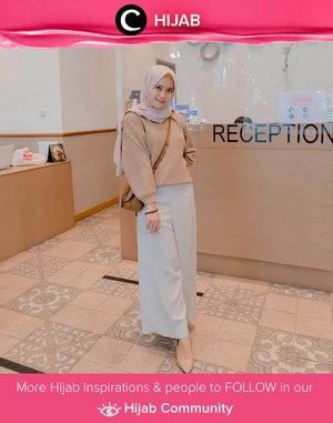 Neutral color for Thursday morning! Image shared by Clozetter @ismahanchrnns. Simak inspirasi gaya Hijab dari para Clozetters hari ini di Hijab Community. Yuk, share juga gaya hijab andalan kamu.