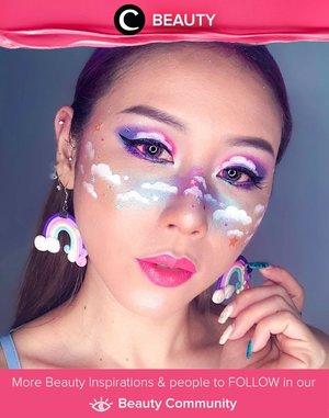 Clozette Ambassador @ladies_journal looked sooo dreamy with her rainbow clouds blush!  Simak Beauty Update ala clozetters lainnya hari ini di Beauty Community. Yuk, share juga beauty product favorit kamu bersama Clozette.