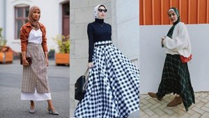 These Plaid Skirts Styles Are Perfect for Hijab Fashion