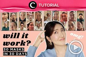 Intip efektivitas menggunakan masker berturut-turut selama 30 hari: https://bit.ly/3nXQZrO. Video ini di-share kembali oleh Clozetter @ranialda. Lihat juga tutorial lainnya di Tutorial Section.