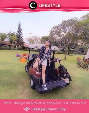 Another outdoor activity you should try in 2021: golfing! Image shared by Clozette Ambassador @katherin. Simak Lifestyle Update ala clozetters lainnya hari ini di Lifestyle Community. Yuk, share momen favoritmu bersama Clozette.