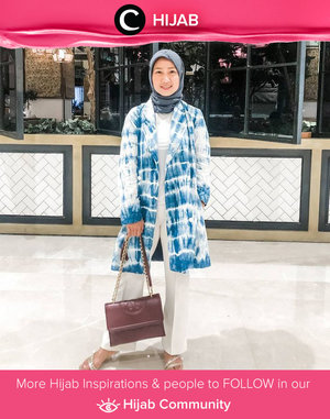 In the mood for blue tie-dye outfit. Image shared by Clozetter @chichi. Simak inspirasi gaya Hijab dari para Clozetters hari ini di Hijab Community. Yuk, share juga gaya hijab andalan kamu.
