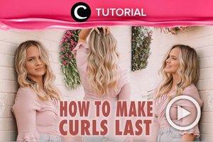 How to make your curls last longer: https://bit.ly/3fOkCbp. Video ini di-share kembali oleh Clozetter @juliahadi. Lihat juga tutorial lainnya di Tutorial Section.