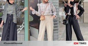 9 Ide OOTD Hijab Trendi alaMeirani Amalia, Cocok untuk Hangout!