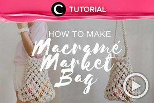 Teknik macrame ternyata bisa digunakan untuk membuat tas pantai yang stylish, lho! Intip caranya di: http://bit.ly/2Yr9bhv. Video ini di-share kembali oleh Clozetter @zahirazahra. Lihat juga tutorial lainnya di Tutorial Section.