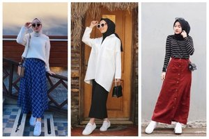 7 Tips OOTD Hijab dan Rok untuk Gaya Simpel nan Kasual ke Kampus