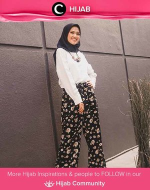 Pair your white blouse with printed pants for a more casual and fun total look. Simak inspirasi gaya Hijab dari para Clozetters hari ini di Hijab Community. Image shared by Clozetter @putiriistianaa. Yuk, share juga gaya hijab andalan kamu.