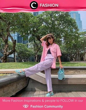 Pastel on pastel! Clozette Ambassador @steviiewong nailed this head-to-toe sorbet colour look. Simak Fashion Update ala clozetters lainnya hari ini di Fashion Community. Yuk, share outfit favorit kamu bersama Clozette.