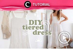 Tiered dress seperti ini mampu menjadikan look-mu lebih chic sekaligus feminin. Coba lihat cara membuatnya di: https://bit.ly/3jALf7a. Video ini di-share kembali oleh Clozetter @ranialda. Lihat juga tutorial lainnya di Tutorial Section.