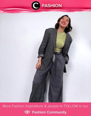 Adding a masculine touch on your weekend like Clozette Crew @thiasoediro with her oversized blazer and daddy pants. Simak Fashion Update ala clozetters lainnya hari ini di Fashion Community. Yuk, share outfit favorit kamu bersama Clozette.
