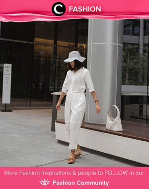 In white on white, Clozette Ambassador @janejaneveroo shows her cool side. Simak Fashion Update ala clozetters lainnya hari ini di Fashion Community. Yuk, share outfit favorit kamu bersama Clozette.